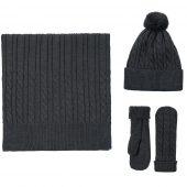 Варежки Heat Trick, черный меланж, размер L/XL