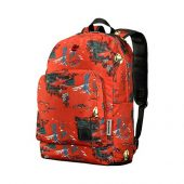 """Рюкзак Crango WENGER 16"""", кирпичный с рисунком Альпы, полиэстер, 31x17x46 см, 24 л, арт. 019677203"""