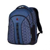 "Рюкзак Sun WENGER 16"", синий со светоотражающим принтом, полиэстер, 35x27x47 см, 27 л, арт. 019678703"