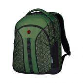 """Рюкзак Sun WENGER 16"""", зеленый со светоотражающим принтом, полиэстер, 35x27x47 см, 27 л, арт. 019678503"""