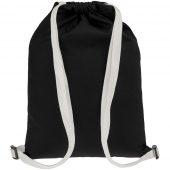 Рюкзак Nock, черный с белой стропой