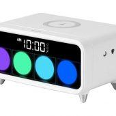 Часы с беспроводным зарядным устройством Rombica Timebox 1, белый, арт. 019753403