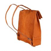Рюкзак-сумка KLONDIKE DIGGER Mara, натуральная кожа цвета коньяк, 32,5 x 36,5 x 11 см, арт. 020080103
