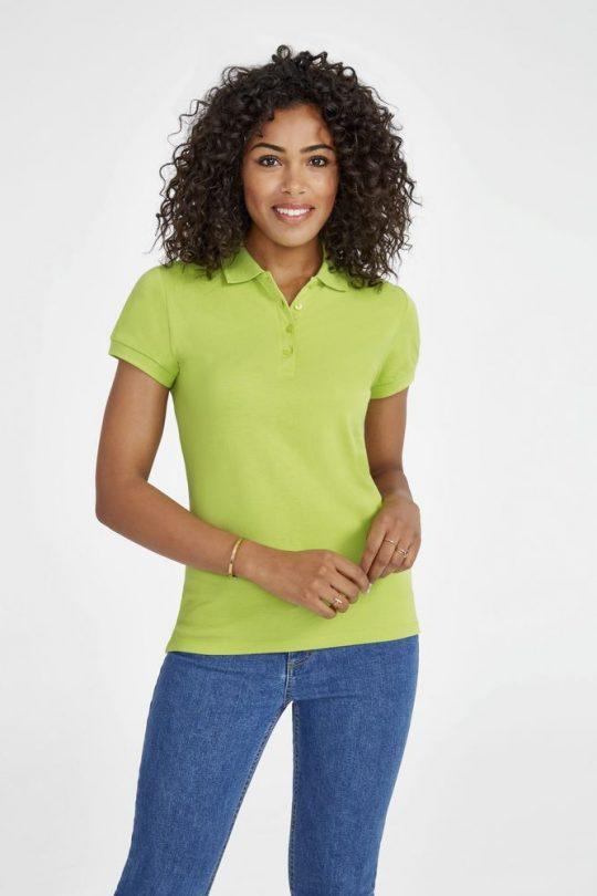 Рубашка поло женская People 210 красная, размер XL