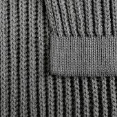 Плед Shirr, серый меланж