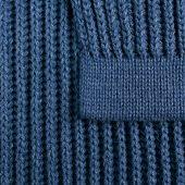 Плед Shirr, синий (деним)