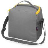 Изотермическая сумка-холодильник Classic c контрастной молнией, серый/желтый, арт. 020051303