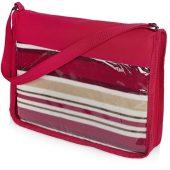 Плед в полоску в сумке Junket, красный, арт. 019948403