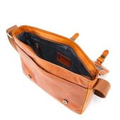Сумка через плечо KLONDIKE DIGGER Joe, натуральная кожа цвета коньяк, 28 x 32 x 8 см, арт. 020079303
