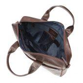 Сумка KLONDIKE DIGGER Mavis, натуральная кожа в темно-коричневом цвете, 32 x 40 x 8 см, арт. 020079403