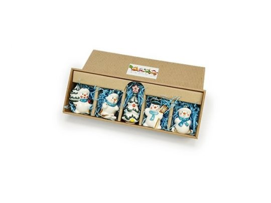 Набор елочных игрушек Снеговички подглазурная роспись, арт. 020088103