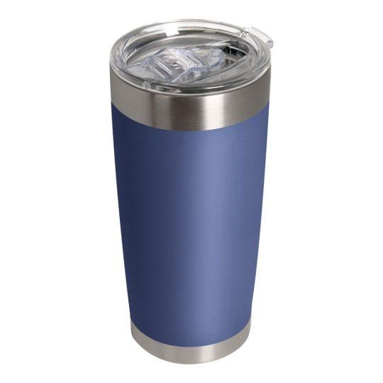Термокружка вакуумная, Crown, 590 ml, матовое покрытие, синяя