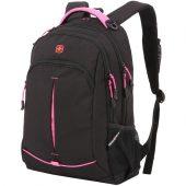 Рюкзак школьный Swissgear, черный с розовым