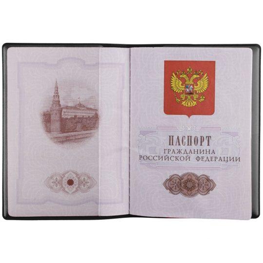Обложка для паспорта «Тер-Питер-пи», черная