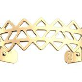 Браслет-бэнгл из латуни с гальваническим покрытием жёлтым золотом, 8мм, арт. 020135403