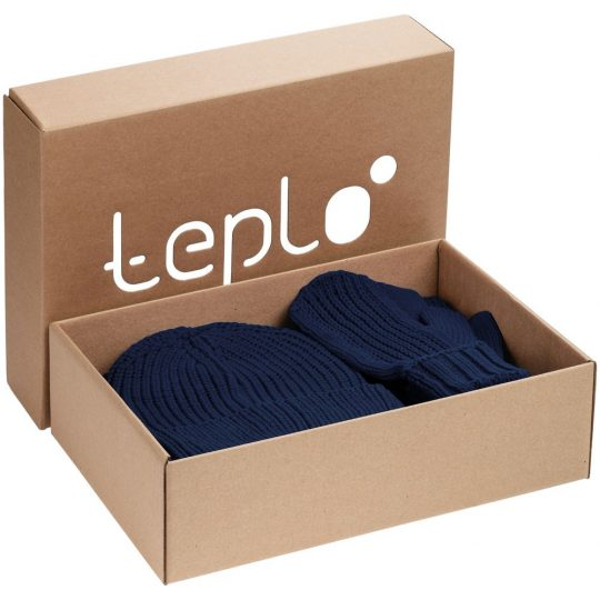 Набор Nordkyn Full Set с шарфом, синий, размер L