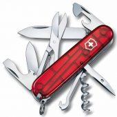 Офицерский нож CLIMBER 91, прозрачный красный