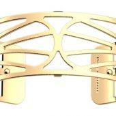 Браслет-бэнгл из латуни с гальваническим покрытием жёлтым золотом, 25мм, арт. 020134103