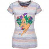 Футболка женская «Амазонка» двусторонняя, оранжевый/фиолетовый, размер XL