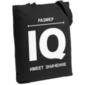 Холщовая сумка «Размер IQ», черная