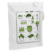 Холщовая сумка Wine Math, молочно-белая