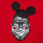 Толстовка Monkey Mouse, красная, размер XXL