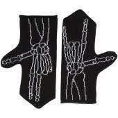 Варежки Sacred Bones, черные, размер M