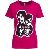 Футболка женская «Меламед. The Beatles», ярко-розовая (фуксия), размер S