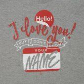 Футболка Hello! I Love You!, серый меланж, размер S