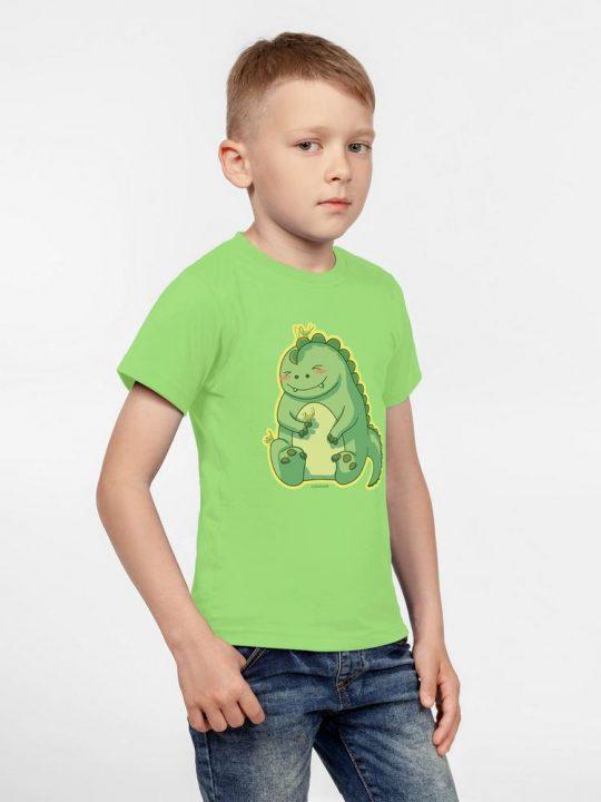 Футболка детская BabyZilla, зеленое яблоко, 6 лет