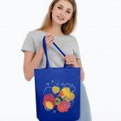 Холщовая сумка «Фрукты», синяя