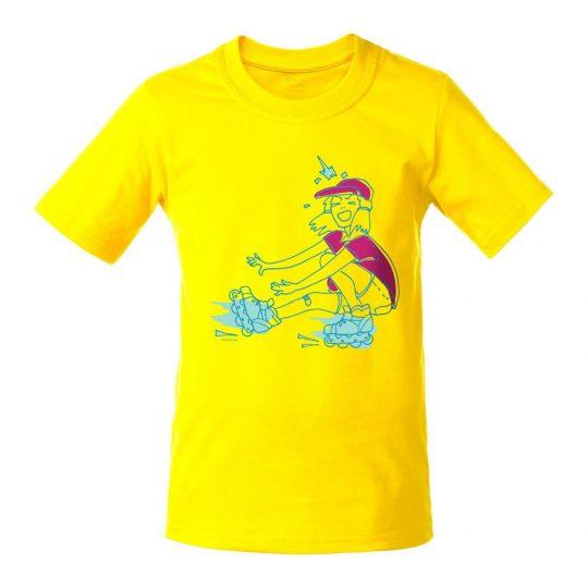 Футболка детская Roller Skates, желтая, 6 лет