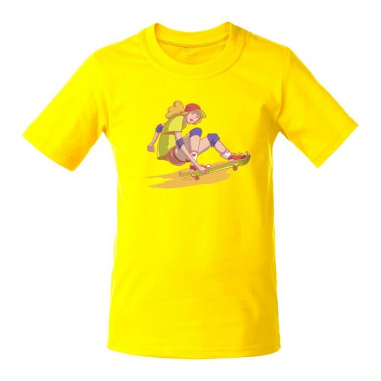 Футболка детская Skateboard, желтая, 6 лет