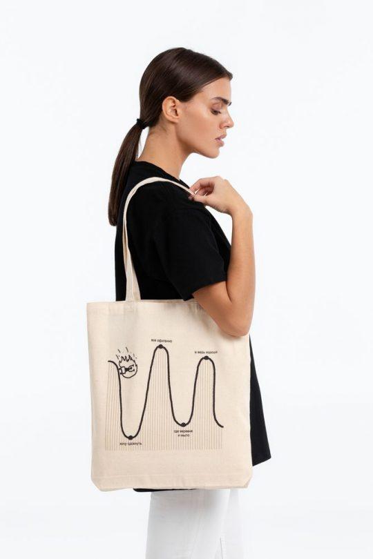 Холщовая сумка «Все плохо», неокрашенная