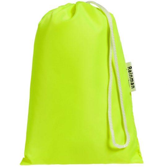 Дождевик «Полгода плохая погода», неоново-желтый, размер XL