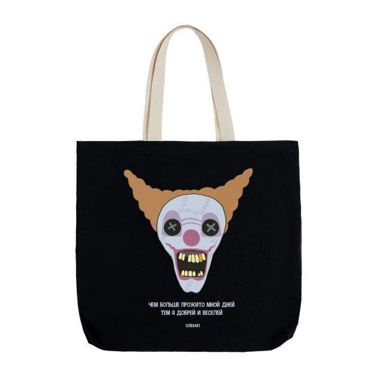 Холщовая сумка «Цирк» с внутренним карманом, черная