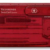Набор инструментов SwissCard Quattro, красный