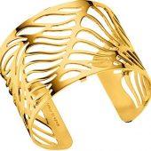 Браслет-бэнгл из латуни с гальваническим покрытием жёлтым золотом, 40мм, арт. 020134703