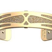 Браслет-бэнгл из латуни с гальваническим покрытием жёлтым золотом, 14мм, арт. 020133503