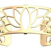 Браслет-бэнгл из латуни с гальваническим покрытием жёлтым золотом, 25мм, арт. 020134203