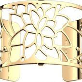 Браслет-бэнгл из латуни с гальваническим покрытием жёлтым золотом, 40мм, арт. 020134803