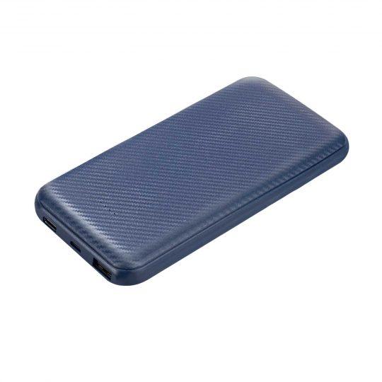 Внешний аккумулятор Carbon PB, 10000 mah, синий металлик