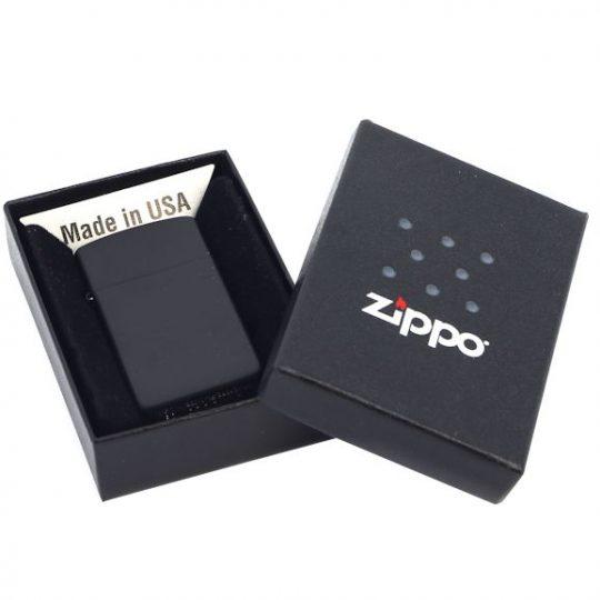 Зажигалка Zippo Slim Matt, матовая черная
