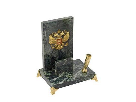 Настольный прибор Закон, зеленый/золотистый/красный, арт. 020719203