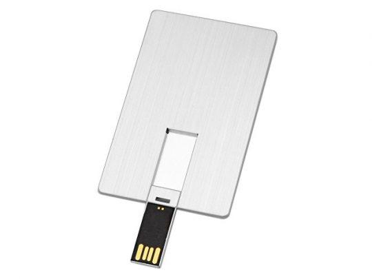 Флеш-карта USB 2.0 64 Gb в виде металлической карты Card Metal, серебристый (64Gb), арт. 020727603
