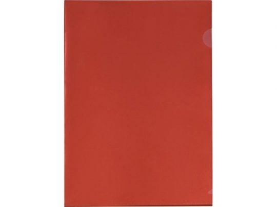 Папка-уголок прозрачный формата А4 0,18 мм, красный, арт. 020728403