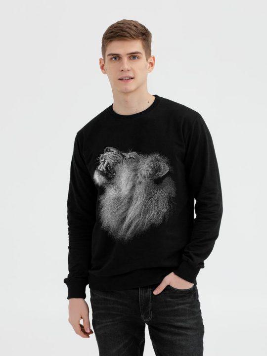 Толстовка Like a Lion, черная, размер XXL