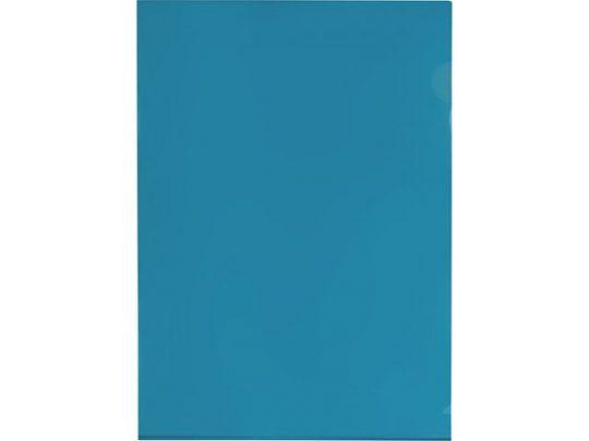 Папка-уголок прозрачный формата А4 0,18 мм, синий, арт. 020728703