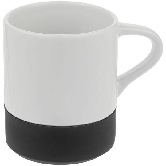 Кружка с силиконовой подставкой Protege, черная