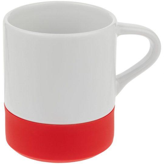 Кружка с силиконовой подставкой Protege, красная
